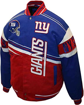 NFL Mens New York Giants 1st and 10 Cotton Twill Jacket by MTC Marketing, Inc