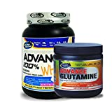Advance Glutamine 300gm Unflavoured& ADVANCE 100% WHEY 25gm Protein Per 33gm 1kg Vanilla (Combo Offer)