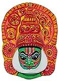Adaa Kathakali Papier Mache Mask (H 10.25 X L 8.25 x W 2.5) inches