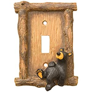 Bearfoots Bears Relaxed Bear Single Switch Plate Cover