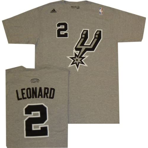 Amazon.com : San Antonio Spurs Kawhi Leonard Adidas Grey Alternate T