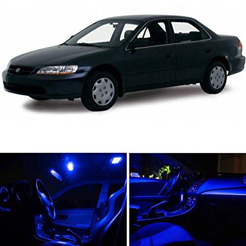 Ledpartsnow Honda Accord 1998-2002 Blue Premium Led Interior Lights Package Kit (10 Pieces)