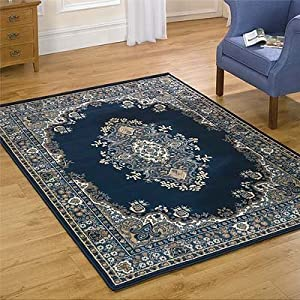 Flair Rugs Element Lancaster Traditional Rug, Navy, 60 x 110 Cm by Flair Rugs