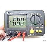 AideTek Precision Milliohm Meters vs Megger 4 wire kelvin clip 0 adjust large LCD Backlit LCD data hold Manual zero display adjust
