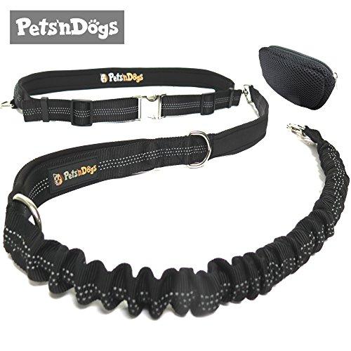Bild von: Premium Jogging-Leine | Sichere Metall-Komponenten | Umweltfreundliche Verpackung | Softer Neopren-Bauchgurt | 2 Gratis Booklets | Pets'nDogs