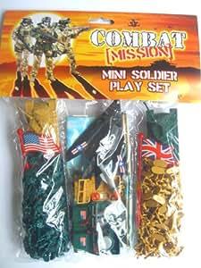 Combat Mission - MINI SOLDIER PLAY SET {Force/Tank/Jeep/Flag}