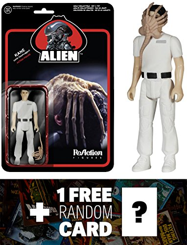 Facehugger Kane: Funko ReAction x Alien Action Figure + 1 FREE Classic Sci-fi & Horror Movies Trading Card Bundle (044244)