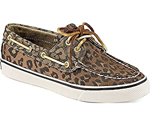Sperry Top-sider Bahama Boat Shoe Tan Leopard Size 7.5 M
