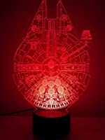 Star Wars Millennium Falcon Lighting Decor Bedside Lamp 2016 Version by Ktechlights