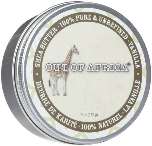 Out of Africa Shea Butter Tin, Vanilla, 5 Ounce