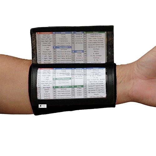 quarterback playbook football wristband triple window. Black Bedroom Furniture Sets. Home Design Ideas