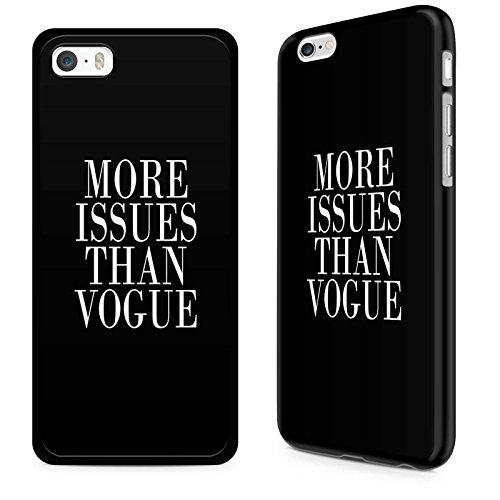 "Gadget zoo® famoso motivazionale scritta ""We Have Any-Cover rigida per iPhone 4 4s 5 5s 5C 6 Plus/6s, colore: nero, plastica,  - More Issues Than Vogue Black, iPhone 5 5s"