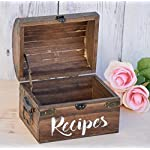 Antique wooden recipe card box