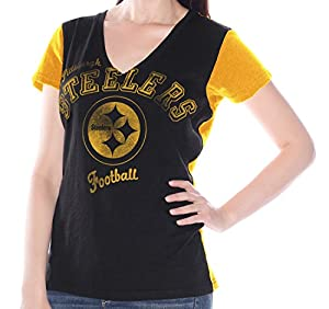 "Pittsburgh Steelers Women's G-III NFL ""Fair Catch"" V-neck T-shirt by G-III Sports"