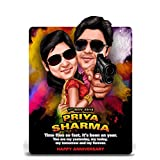 Rowdy Rathore Bollywood Theme Caricature Gift For Couple, Gift For Husband, Gift For Wife, Gift For Girlfriend...
