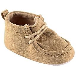 Luvable Friends Boy\'s Faux Suede Boot (Infant), Tan, 12-18 Months M US Infant