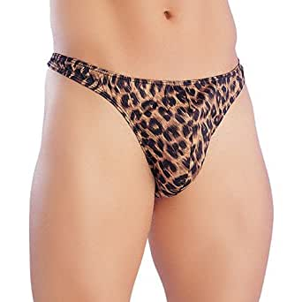 Brand New Mens Leopard Pouch Pants Underwear Thong String