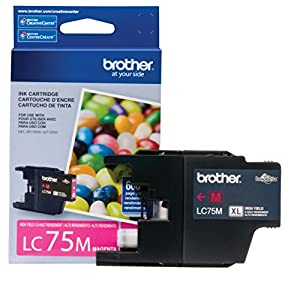 Brother Printer LC75M High Yield (XL Series) Magenta Cartridge Ink - Retail Packaging