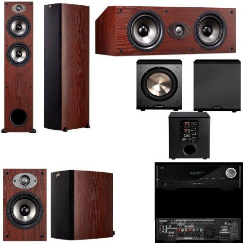 Polk Audio Tsx330T 5.1 Home Theater System (Cherry)-Harman Kardon Avr 1710 7.2