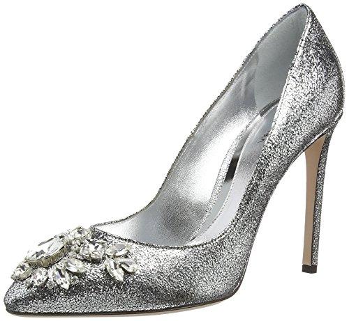 Sebastian S6847 A/21, Decolleté chiuse donna, Argento (Silber (cam.lamin.glitter silver)), 36