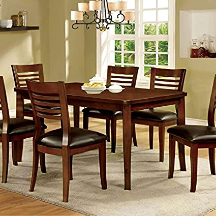 Adleman Transitional Style Medium Oak Finish 5-Piece Dining Table Set