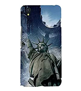 STATUE OF LIBERTY ALIEN INVASION PIC 3D Hard Polycarbonate Designer Back Case Cover for One Plus X :: One+X :: OnePlus X