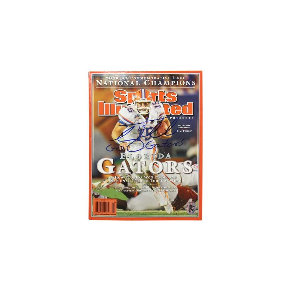 NCAA Florida Gators #15 Tim Tebow Autographed 2008 BCS Commemorative Sports Illustrated Issue