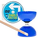 Blue Carousel - Fast Bearing Diabolo Set, Hardwood Diablo Sticks, Pro String & Diabolo Directions DVD!