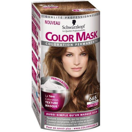 schwarzkopf color mask coloration permanente pour cheveux chtain clair dor 665 - Coloration Chatain Auburn
