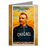 Single Greeting Card of Cap Anson, Chicago White Stockings ( Cubs ) 1888 Baseball Card Amazon.com