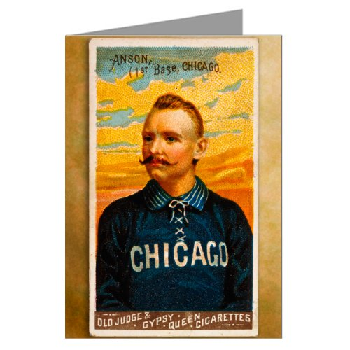 Single Greeting Card of Cap Anson, Chicago White Stockings ( Cubs ) 1888 Baseball Card at Amazon.com