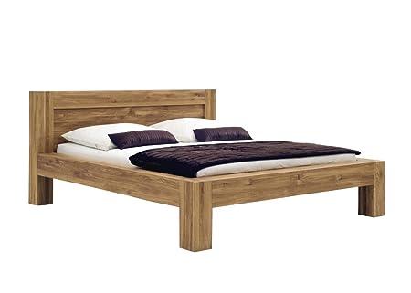SAM® Massiv-Holzbett Brian, Holz-Bett aus massiver Wildeiche, geschlossenes Kopfteil, naturliche widerstandsfähige Oberfläche, 160 x 200 cm