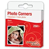 3L Photo Corners Self Adhesive, 250-Pack, 3/8-Inch, Black