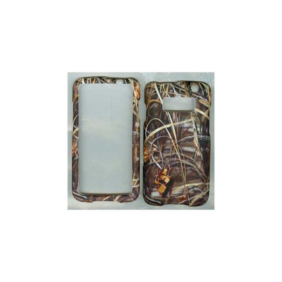 Camoflague Camo Grass Rubberized Hard Case Protector Phone Cover for Samsung Rugby Smart (Sgh i847) At&t