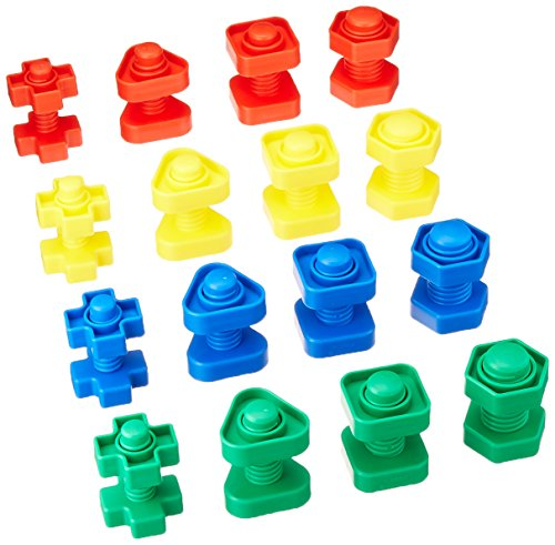 school-specialty-520848-skill-building-nuts-and-bolts-set-plastic-assorted-colors-pack-of-64