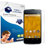 Tech Armor Google Nexus 4 High Defintion (HD) Clear Screen Protectors - Maximum Clarity and Touchscreen Accuracy [3-Pack] Lifetime Warranty