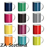 Set Of 12 Tea Coffee Mugs Cups 12 Funky Assorted Colours Bright Colour Mugs New