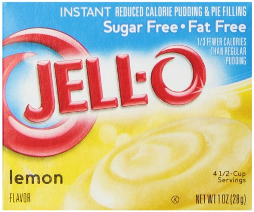 Jell-O Sugar-Free Instant Pudding and Pie Filling, Lemon, 1-Ounce Boxes (Pack of 6)