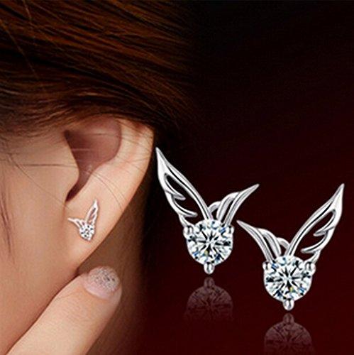 casadeiy Corea, a forma di ali di angelo argento orecchini Piercing