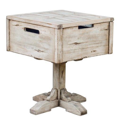 White Wood Denham 21W Mango Wood Accent Table 25595
