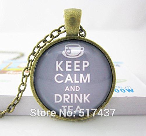 pretty-lee-glass-art-necklacetea-necklace-keep-calm-and-drink-tea-quoteglass-cabochon-necklace