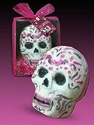SpaGlo Halloween Sugar Skull Bath Bomb- Jumbo 9.5 oz Size - Sandalwood, Oakmos & Nag Champa Scented FOR PRIME or NON-PRIME MEMBERS