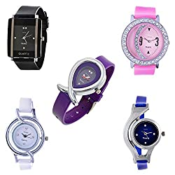Horse Head 5 Combo Analog Multi-color Dial womens watch ...(5-lo-com)