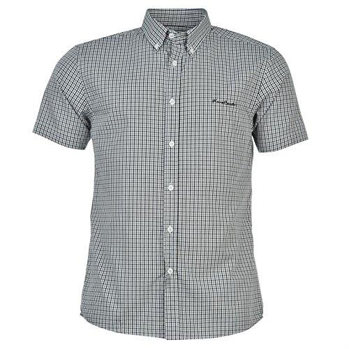 Pierre Cardin -  Camicia Casual  - con bottoni - Con bottoni  - Maniche corte  - Uomo Schwarz Check Medium