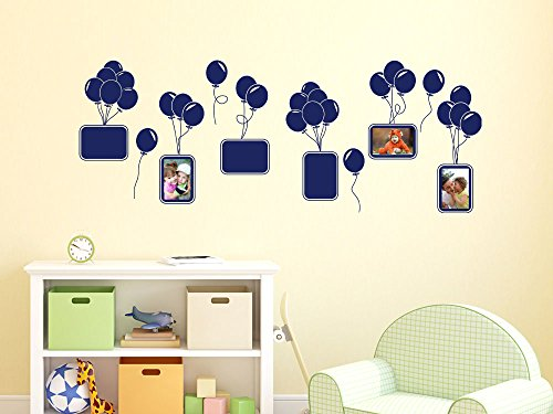 wandtattoo bilderrahmen aufkleber f r kinderzimmer luftballons ballons rahmen 030 dunkelrot. Black Bedroom Furniture Sets. Home Design Ideas