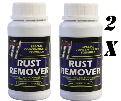 2X RUST REMOVER 250ML CONCENTRATED MAKES UP TO 2.5L AUTO CAR BIKE MOTORBIKE BY IMPRESSIONS