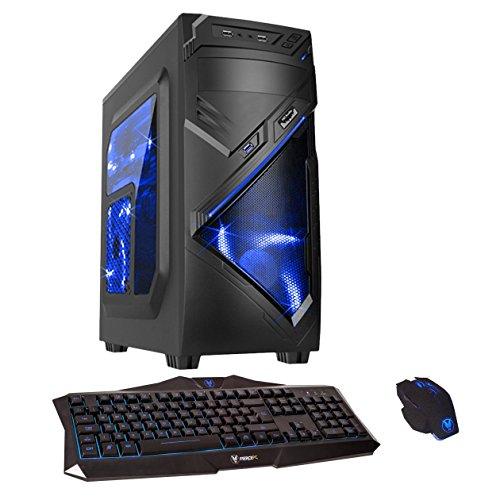 Fierce Ultra Rapide 3.8GHz Quad Couer AMD La Maison Gaming PC Ordinateur De Bureau (Wifi, 16Go RAM, 1To Disque Dur, Graphique R7 séries, Jeu Clavier et Souris) – 220008