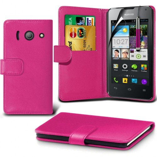 huawei-ascend-y300-leather-wallet-case-cover-hot-pinkplus-free-gift-screen-protector-and-a-stylus-pe