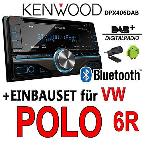 VW polo 6R dPX406DAB 2-dIN pour autoradio kenwood autoradio dAB uSB avec bluetooth avec