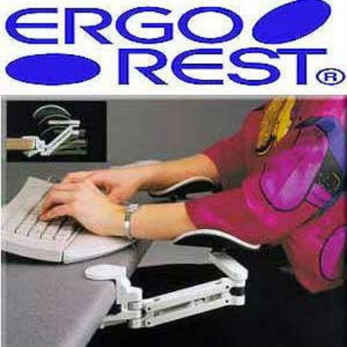 ErgoRest - 330-011-BK - ErgoRest Articulating Arm Support - Black - Standard Arm, Long Pad Ergorest Articulating Arm Support